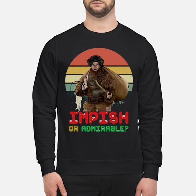 Belsnickel Impish or Admirable vintage sweater