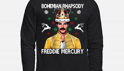 Bohemian Rhapsody Freedie Mercury Ugly Christmas Sweater