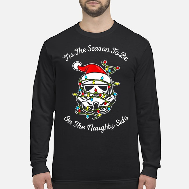 Darth Vader tis the season to be on the naughty side Christmas Long Sleeved T-Shirt