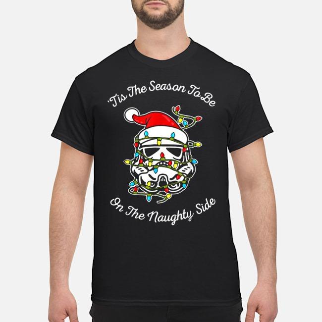 Darth Vader tis the season to be on the naughty side Christmas Shirt