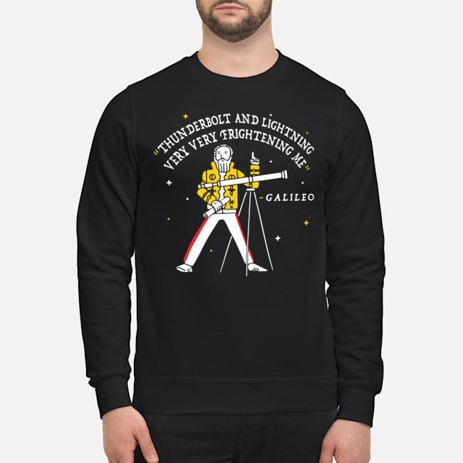 Freddie Mercury thunderbolt and lightning very very frightening me Galileo sweater