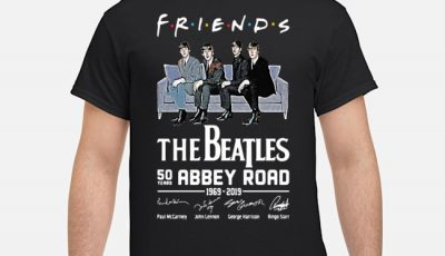 Friends The Beatles 50 Years Abbey Road 1969 2019 Signatures Shirt