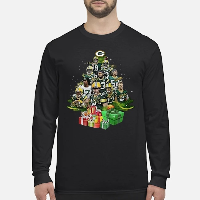 Green Bay Packers Players Christmas Trees Long Sleeved T-Shirt