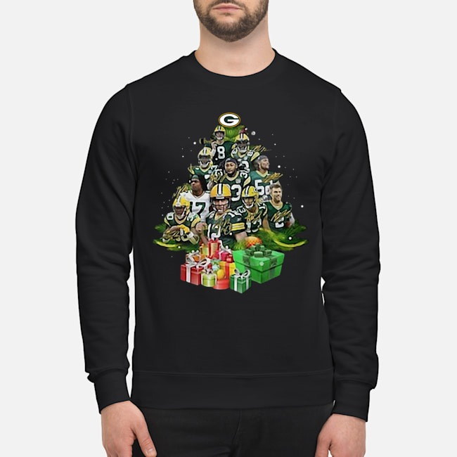 Green Bay Packers Players Christmas Trees Sweater