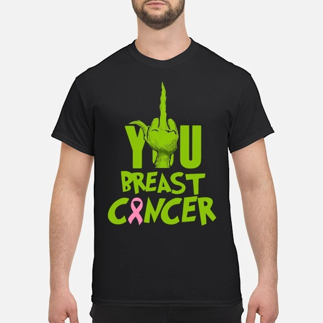 Grinch Fuck You breast Cancer shirt