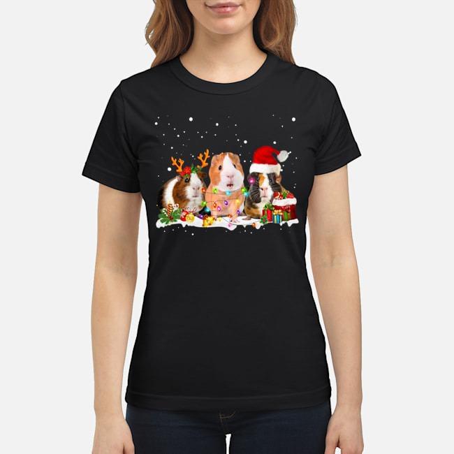Guinea Pig Santa Christmas Ladies