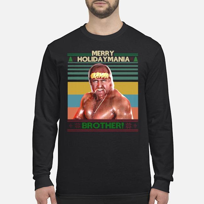 Hulk Hogan Merry Holiday Mania Brother Christmas Vintage Long Sleeved T-Shirt