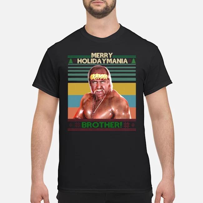 Hulk Hogan Merry Holiday Mania Brother Christmas Vintage Shirt