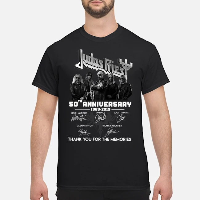 Judas Priest 50th Anniversary 1969 2019 Thank You For The Memories Signatures Shirt