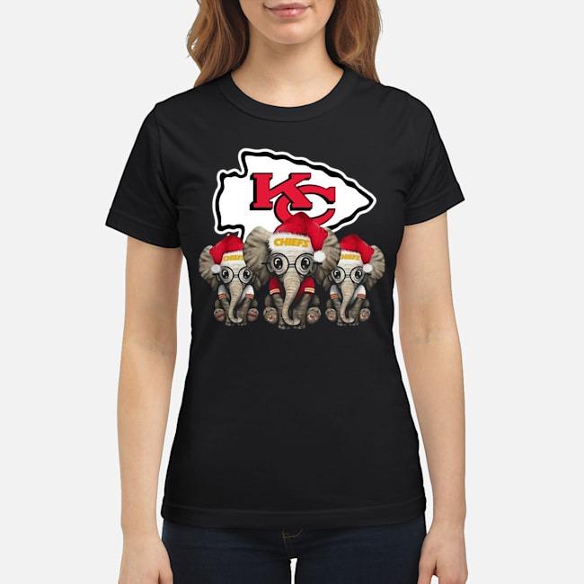 Kansas City Chiefs Elephants Christmas Ladies