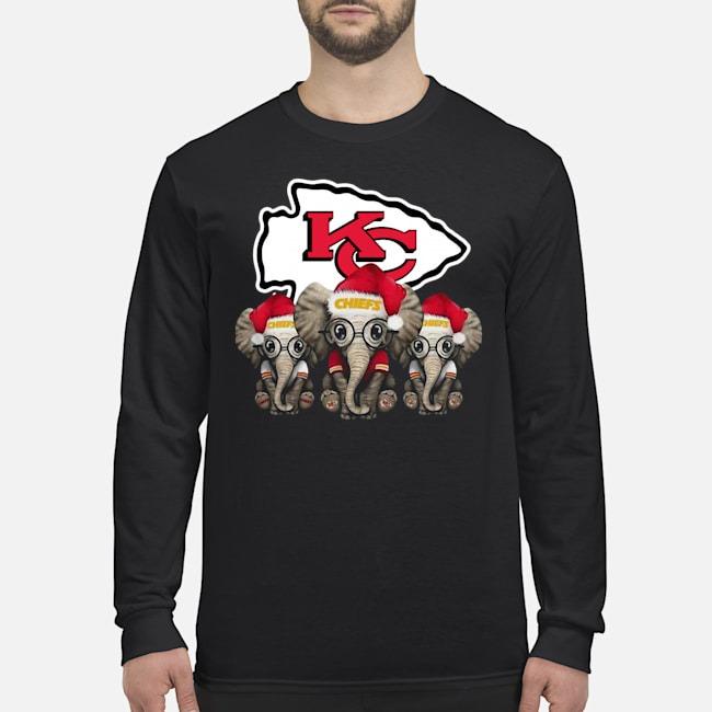 Kansas City Chiefs Elephants Christmas Long Sleeved T-Shirt