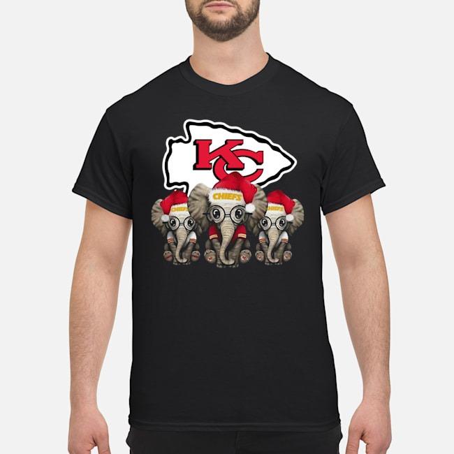 Kansas City Chiefs Elephants Christmas Shirt