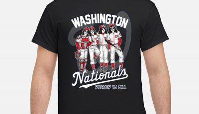 Kiss Washington Nationals Dressed To Kill Shirt