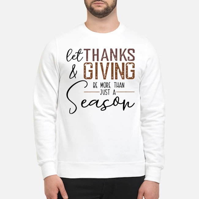 Let Thanks And Giving Be More Than Just A Season Sweater
