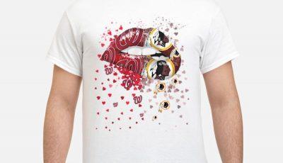 Love Washington Nationals Washington Redskins Lips Shirt