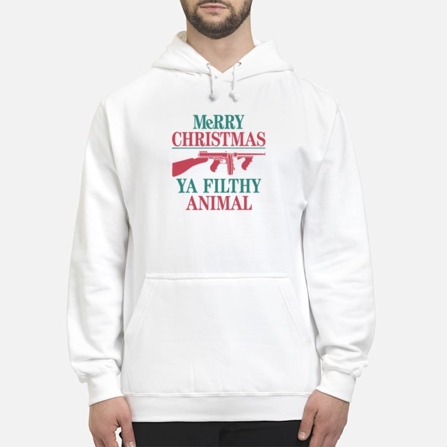 MeRRy Christmas Ya Filthy Animal Hoodie