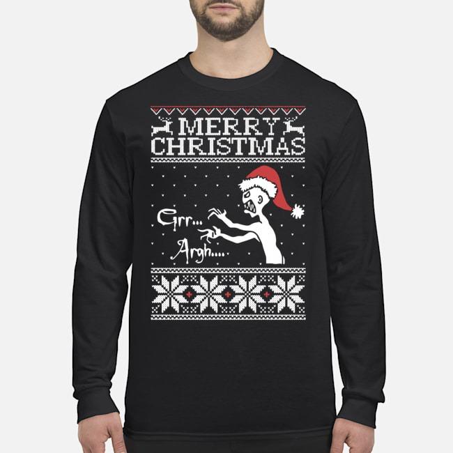 Merry Christmas Grr Argh Buffy Vampire Slayer Ugly Long Sleeved T-Shirt