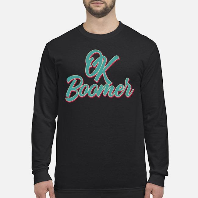 Official Ok Boomer Long Sleeved T-Shirt