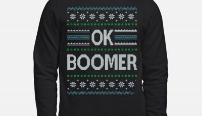 Ok Boomer Ugly Christmas Sweater