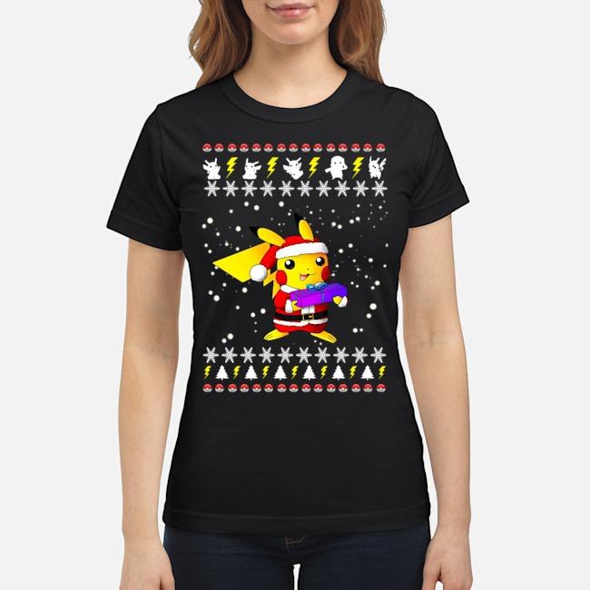 Pikachu Pokemon Ugly Christmas Ladies