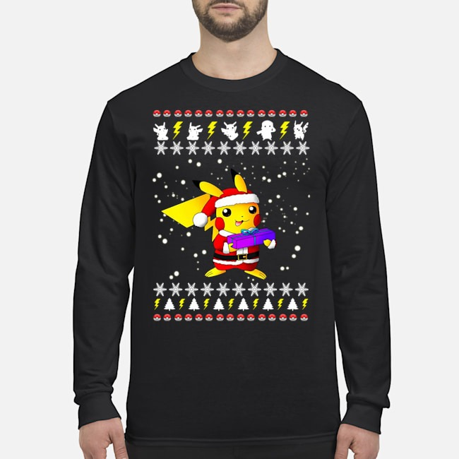 Pikachu Pokemon Ugly Christmas Long Sleeved T-Shirt