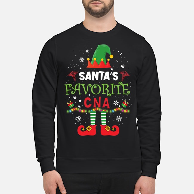 Santa's Favorite CNA ELF Christmas Sweater