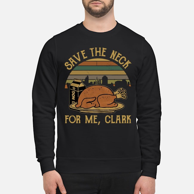 Save The Neck For Me Clark National Lampoon Christmas Vacation Vintage Sweater