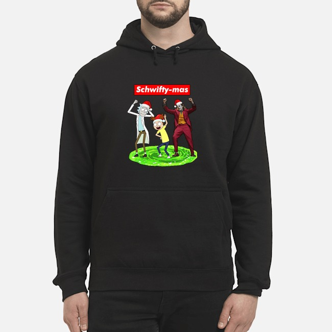 Schwifty-mas Rick and Morty Joker dancing Christmas Hoodie