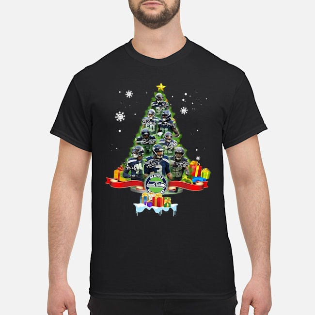 Seattle Seahawks Team Players Christmas Tree Shirt