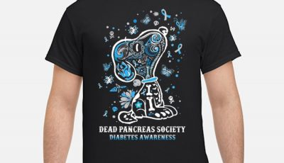 Snoopy Dead Pancreas Society Diabetes Awareness Shirt