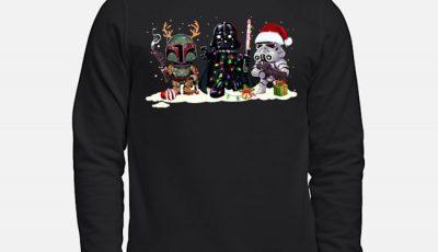 Star Wars Boba Fett Darth Vader and Stormtrooper Christmas Sweater