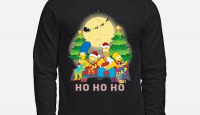 The Simpsons Family ho ho ho Christmas Sweater