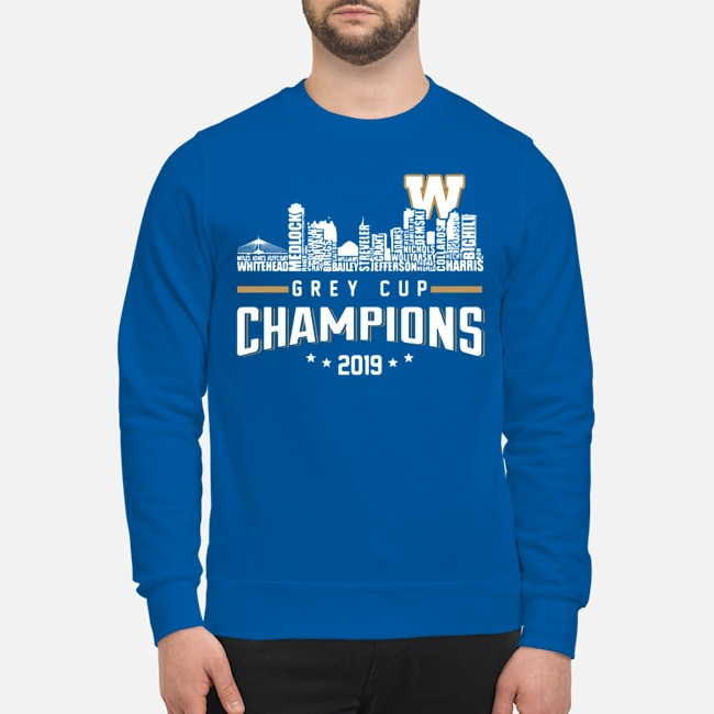Winnipeg Blue Bombers City Grey Cup Champions 2019 Sweater