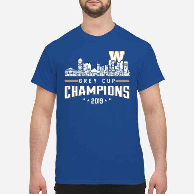 Winnipeg Blue Bombers City Grey Cup Champions 2019 shirt