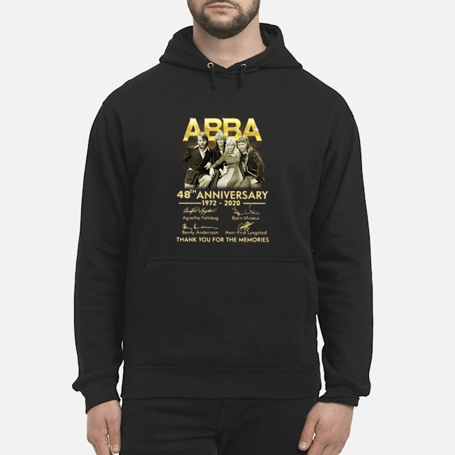 ABBA 48th anniversary 1972-2020 thank you for the memories signatures Hoodie