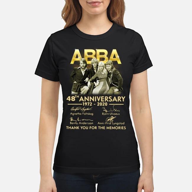 ABBA 48th anniversary 1972-2020 thank you for the memories signatures Ladies
