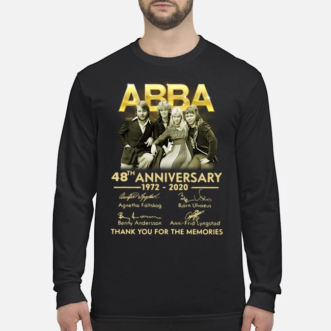 ABBA 48th anniversary 1972-2020 thank you for the memories signatures Long Sleeved T-Shirt