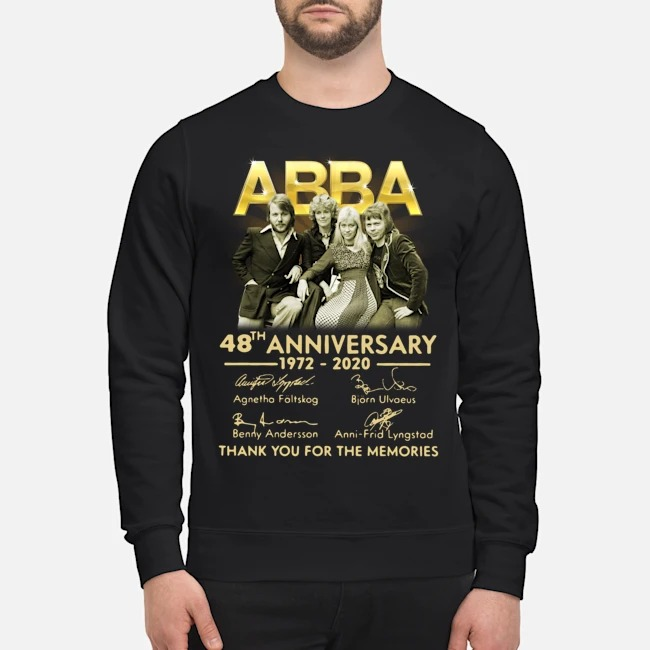 ABBA 48th anniversary 1972-2020 thank you for the memories signatures Sweater