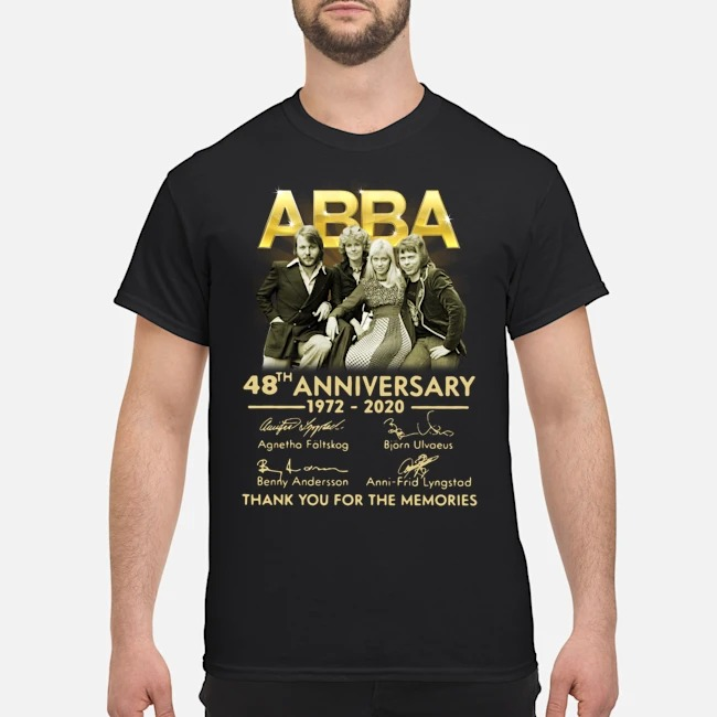 ABBA 48th anniversary 1972-2020 thank you for the memories signatures shirt