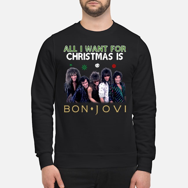 All i want for christmas is Jon Bon Jovi Ugly Sweater