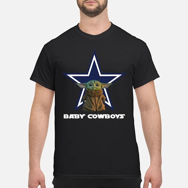 Baby Yoda Baby Cowboys Shirt