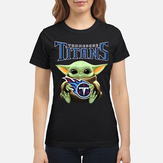 Baby Yoda Hug Tennessee Titans Ladies