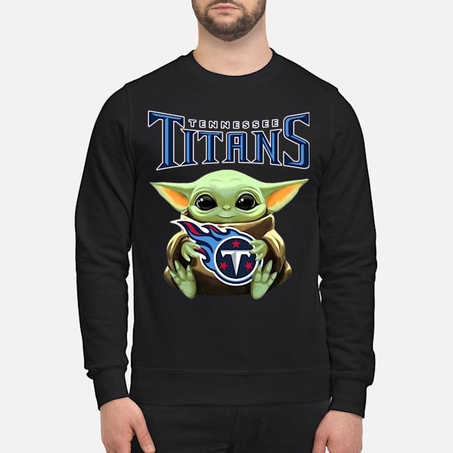 Baby Yoda Hug Tennessee Titans Sweater