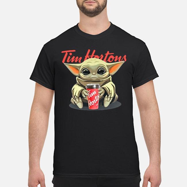 Baby Yoda Hug Tim Hortons Shirt