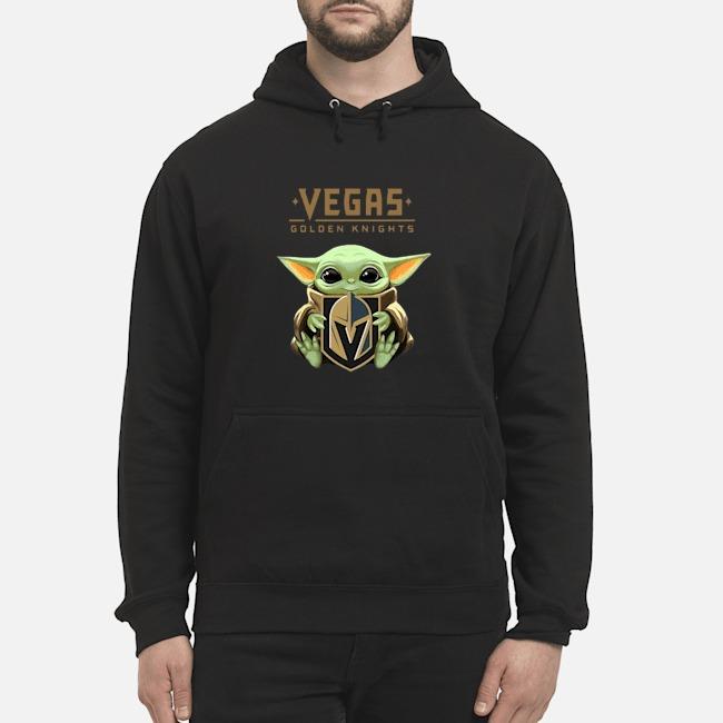 Baby Yoda Hug Vegas Golden Knights Hoodie