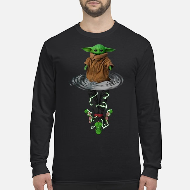 Baby Yoda Water Reflection Mirror Vs Piccolo Long Sleeved T-Shirt