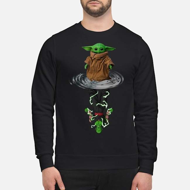 Baby Yoda Water Reflection Mirror Vs Piccolo Sweater