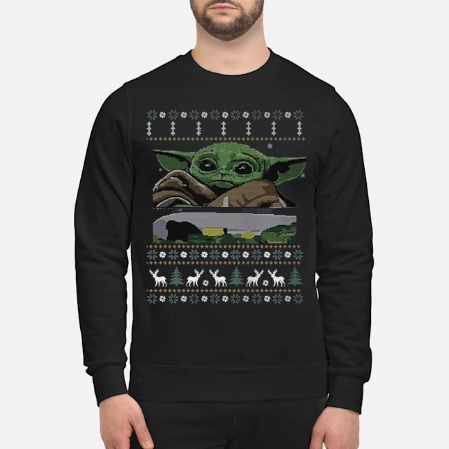 Baby Yoda Yelling At The Table Ugly Christmas Sweater