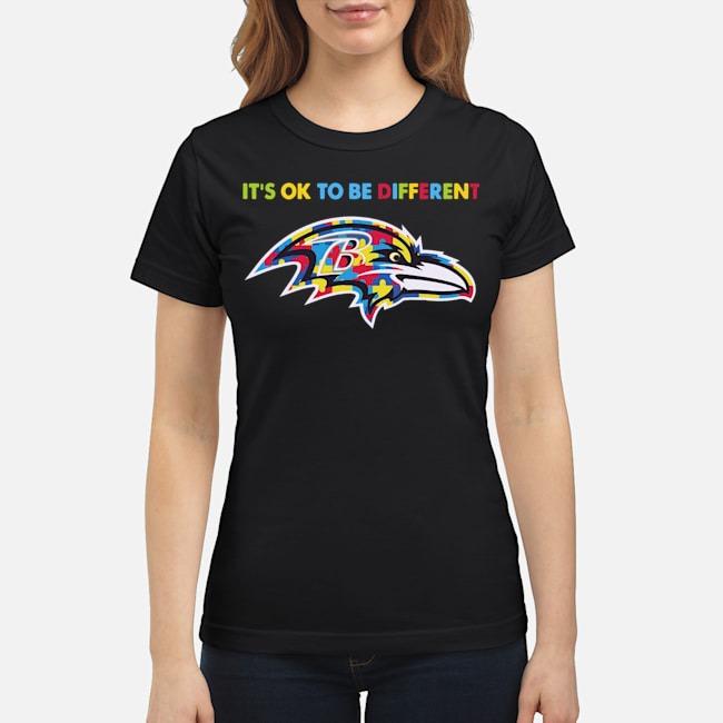 Baltimore Ravens Autism It's Ok To Be Different Ladies