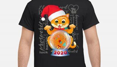 Cat Wishes Happy New Year 2020 Shirt